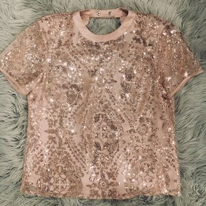 Sequin party blouse or pair with a blazer @work